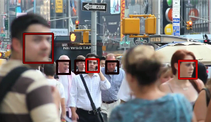 Example face detection result